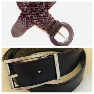 Coach and Brooks Brothers  belts